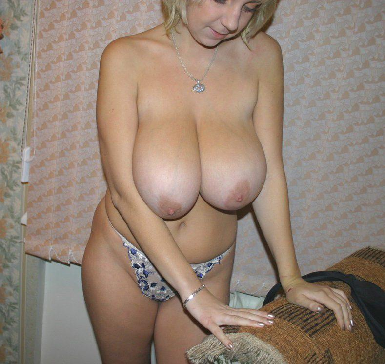 blonde tits big amateur Real