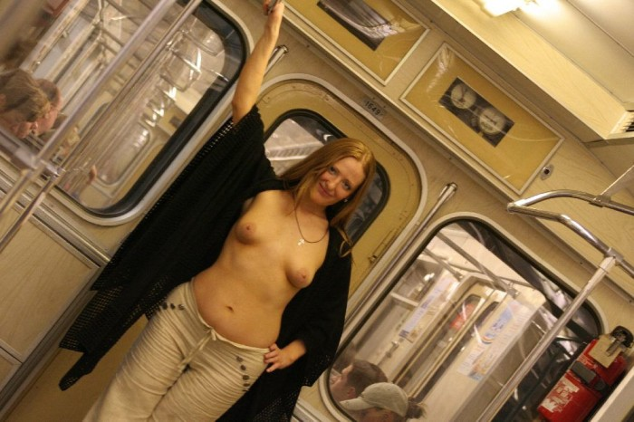 Blonde with small tits underground.jpg