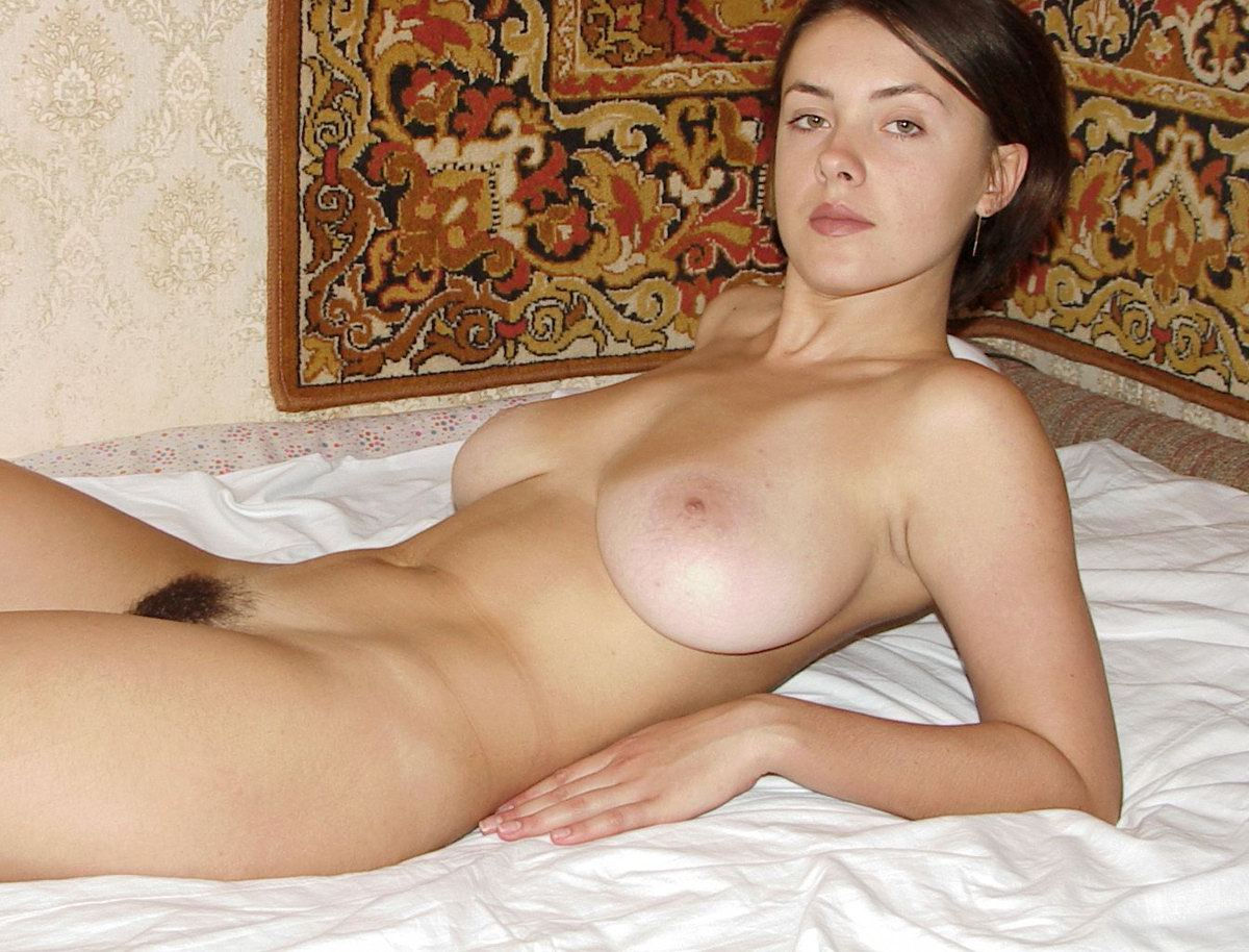 Nude pictures of brunettes with hairy pussy big boobs