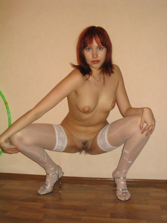 women naked in stockings