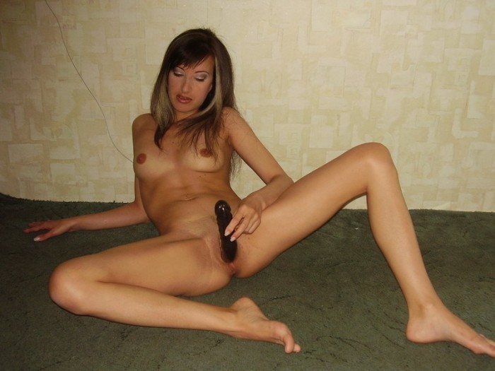 Russian milf with dildo