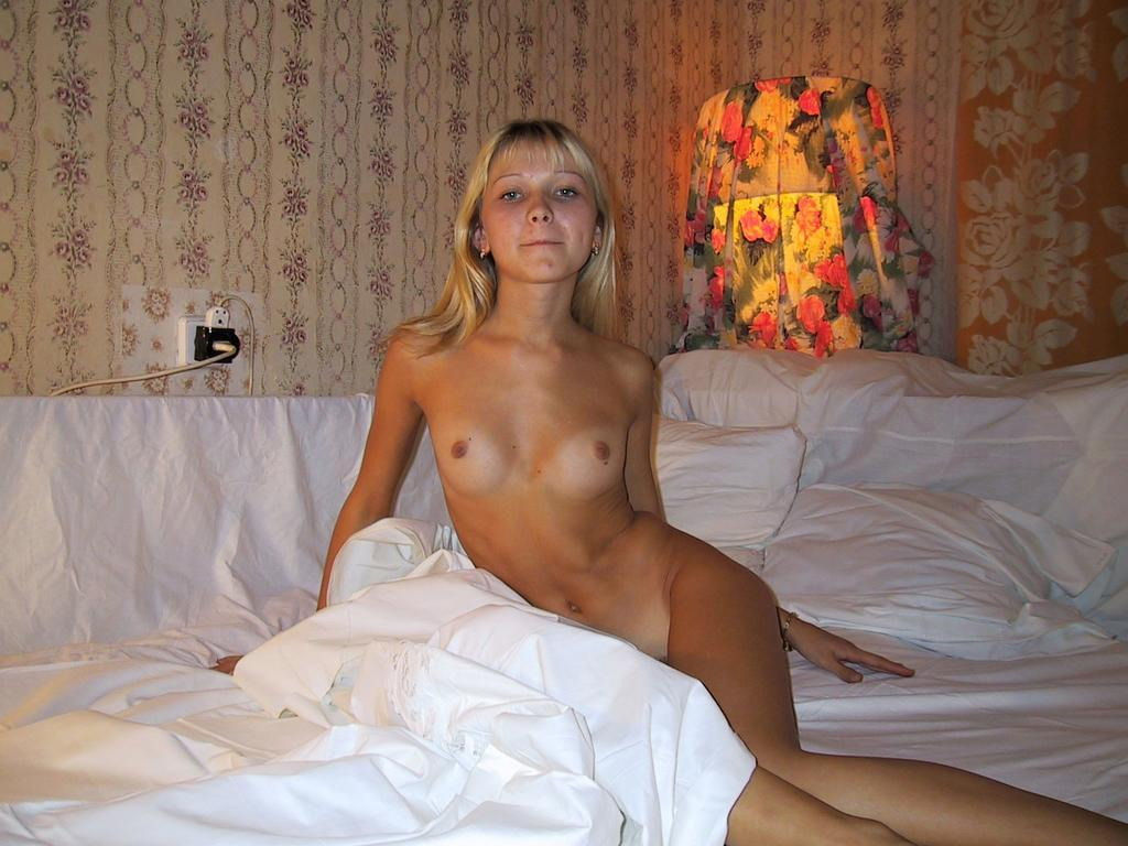 Skinny Blonde With Small Tits