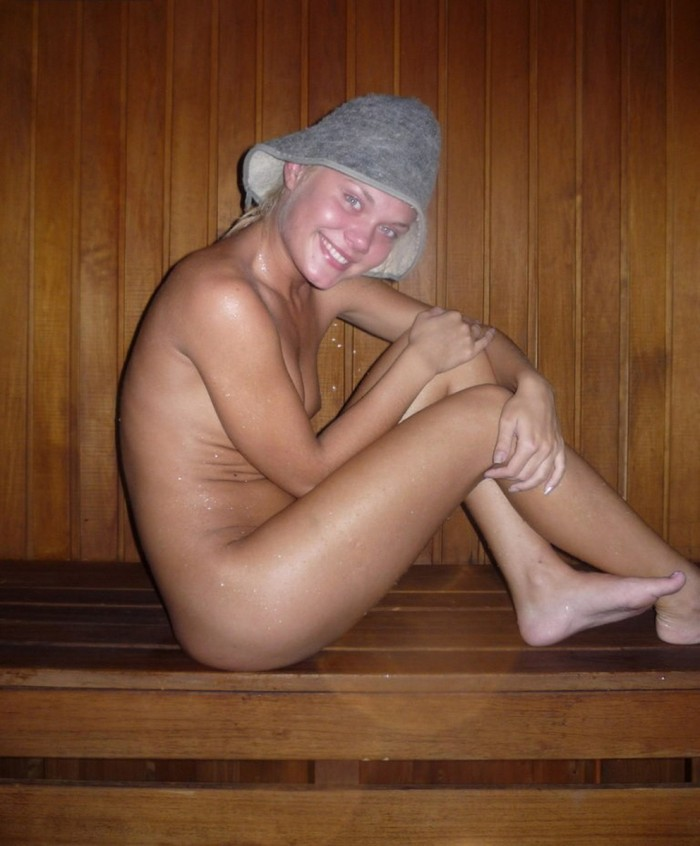 Teen girls at the sauna