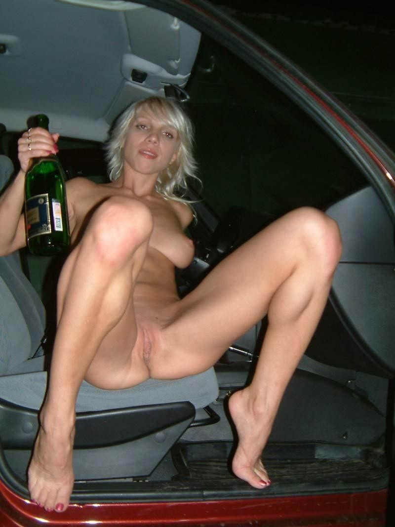 Amateur Blonde In The Car  Russian Sexy Girls-5878