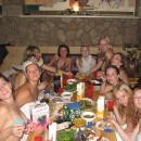 Girls have fun at party before wedding