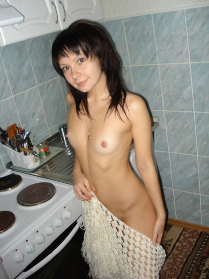 Russian girl Natasha at home