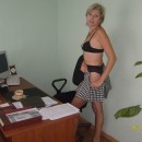 Russian milf at office and home