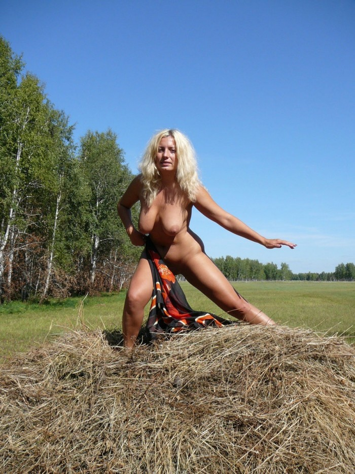 Busty Blonde Milf Outdoors  Russian Sexy Girls-8294