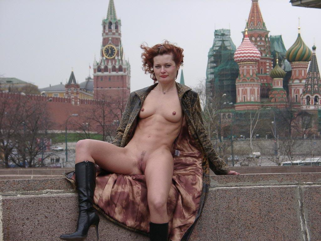 Russian Redhead Posing At Public  Russian Sexy Girls-6503