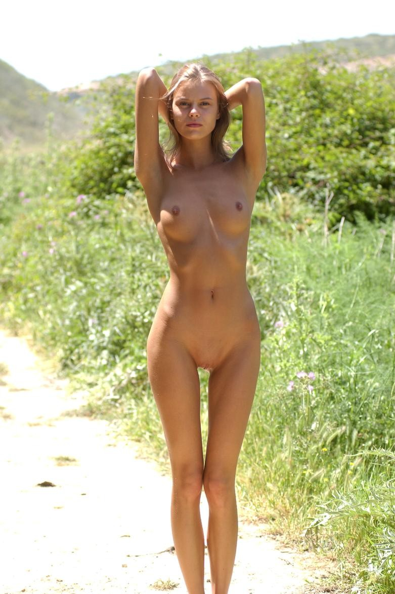 russian outdoors nude Skinny girls