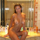 Lovely girl with big boobs in the bath