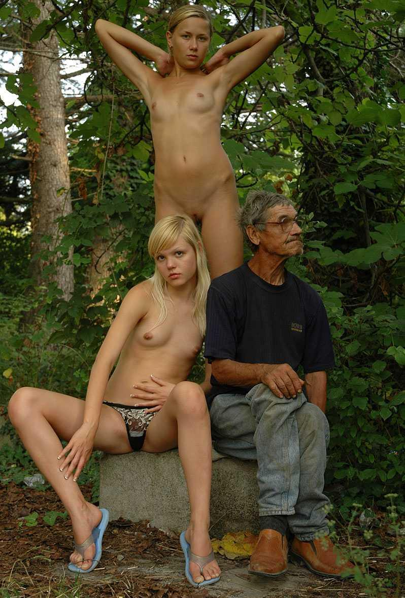 Naked Woman With Homeless