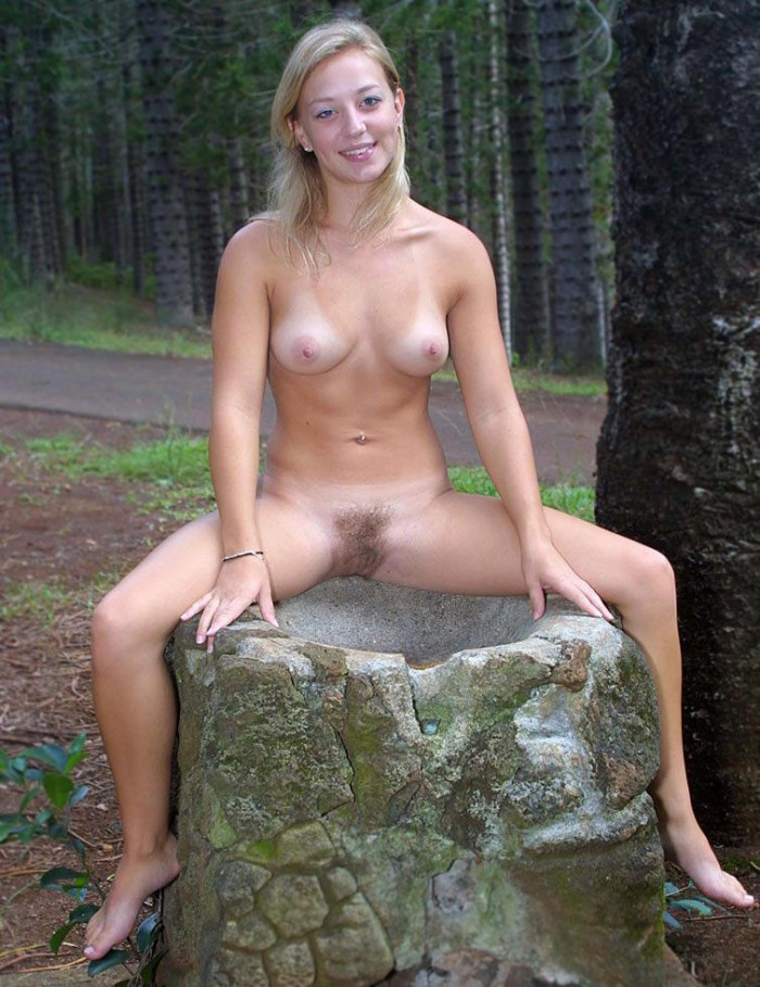 Russian Blonde Teen With Hairy Pussy In The Country  Russian Sexy Girls-3705