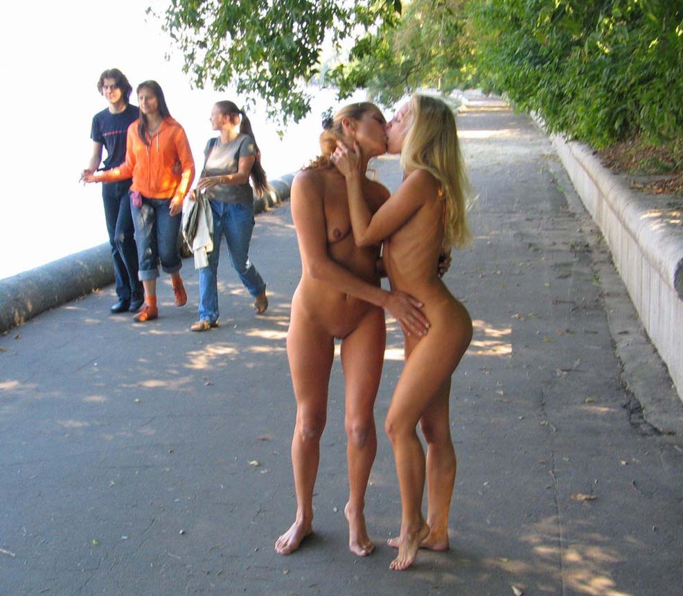 Nude on the street