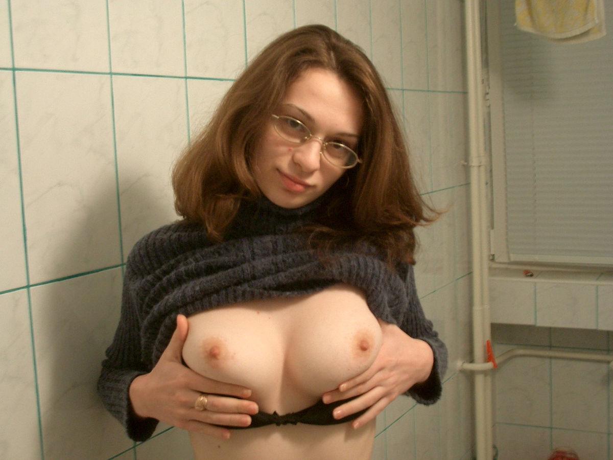 Big Tits Glasses Masturbating
