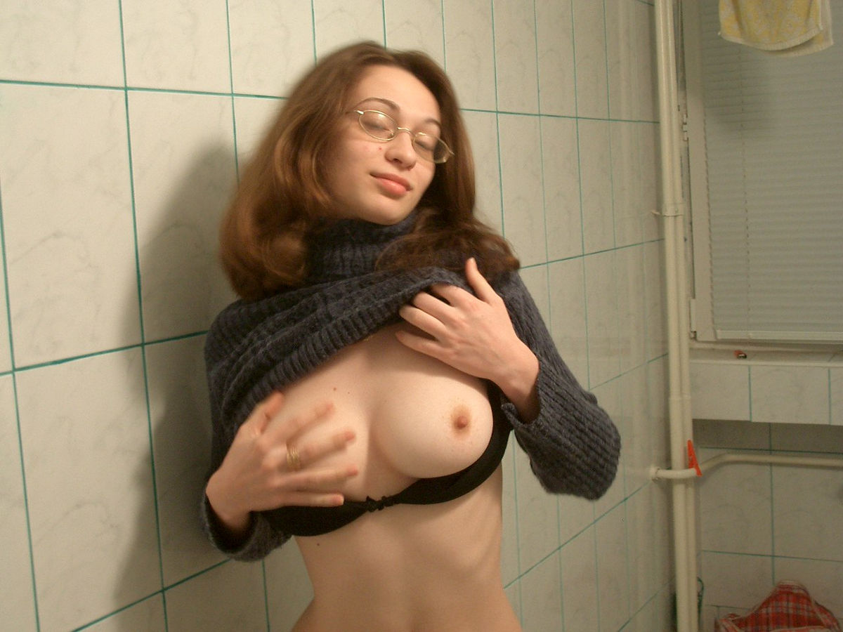 Shy Girl In Glasses Has Sweet Boobs  Russian Sexy Girls-2971