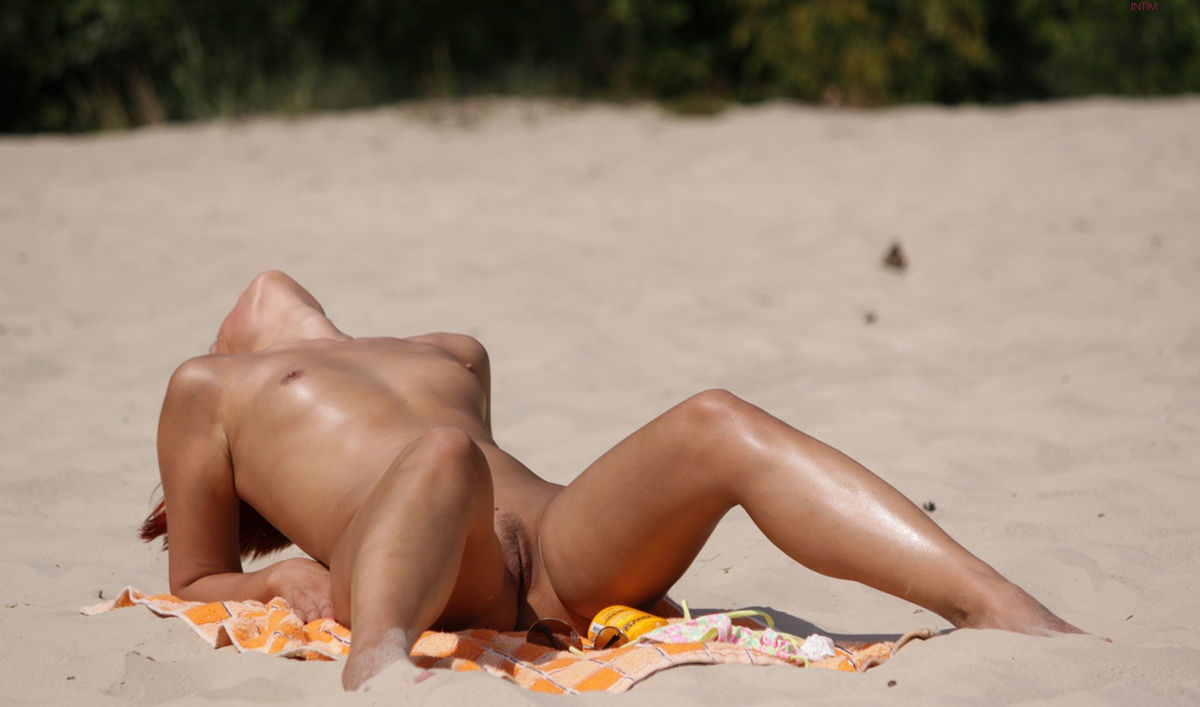 Redhead With Small Tits On The Beach  Russian Sexy Girls-3518
