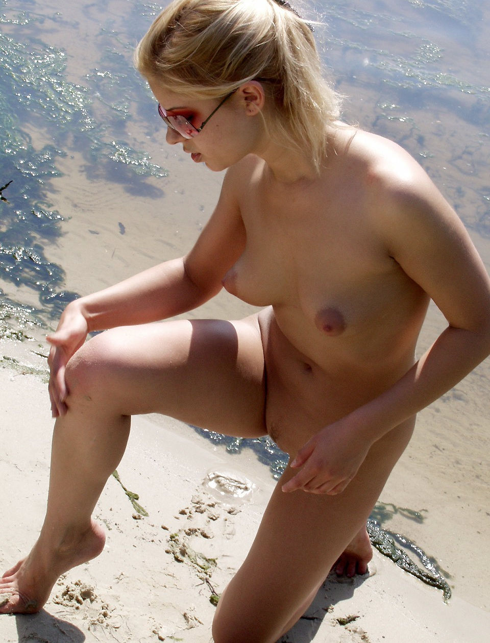 Sexiest Blonde With Amazing Boobs At The Beach  Russian -9082