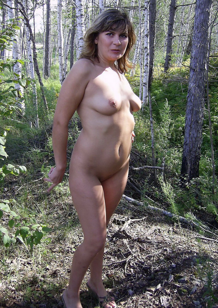 Russian Wife Posing Naked At Forest  Russian Sexy Girls-5628