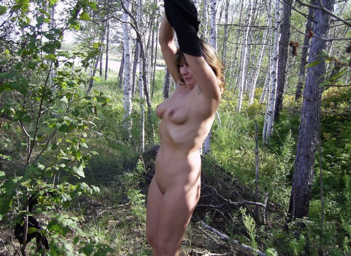 Russian Wife Posing Naked At Forest  Russian Sexy Girls-7070