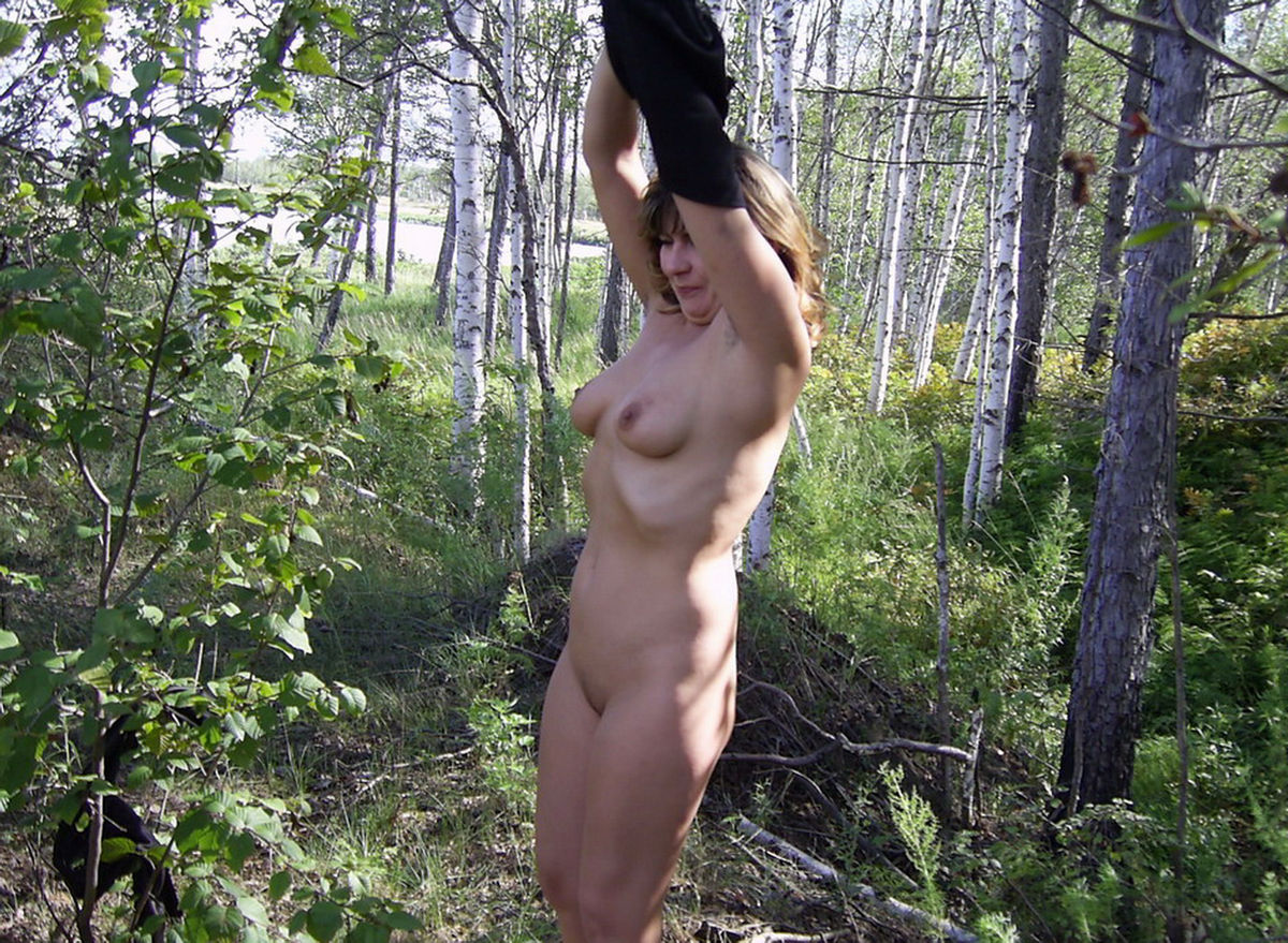 nude men in the forest