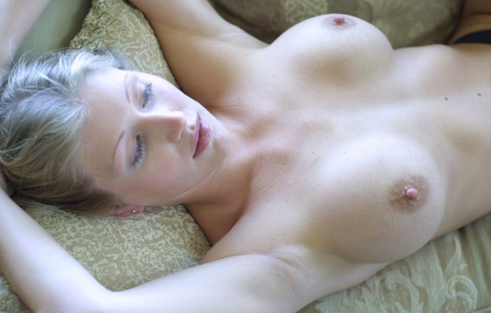 Russian wife posing at home