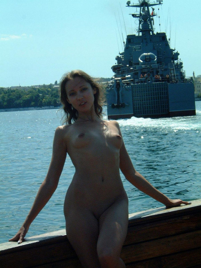 Lovely Girl Posing Naked On Boat  Russian Sexy Girls