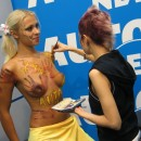 Body art on public car show