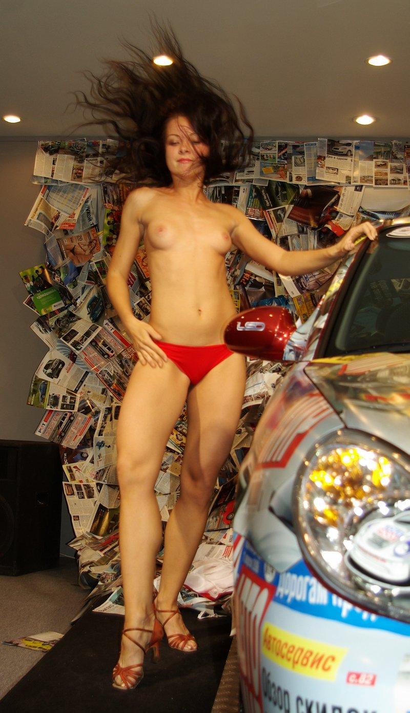 Russian Girls Shows Tits At Public Car Show  Russian Sexy -3515