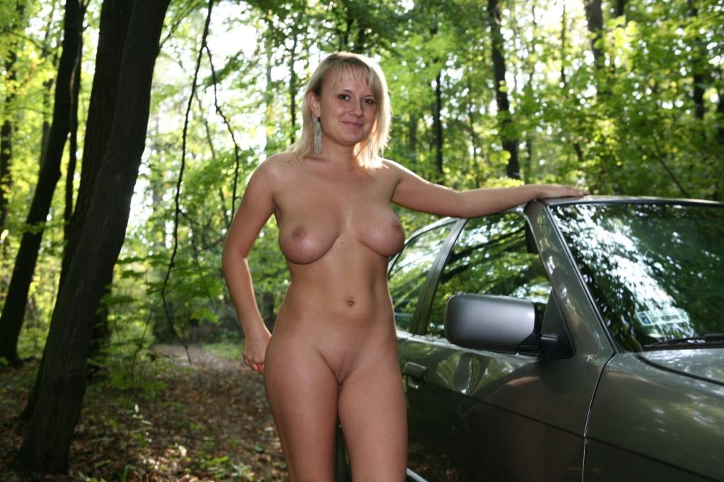 Girls naked in the forest