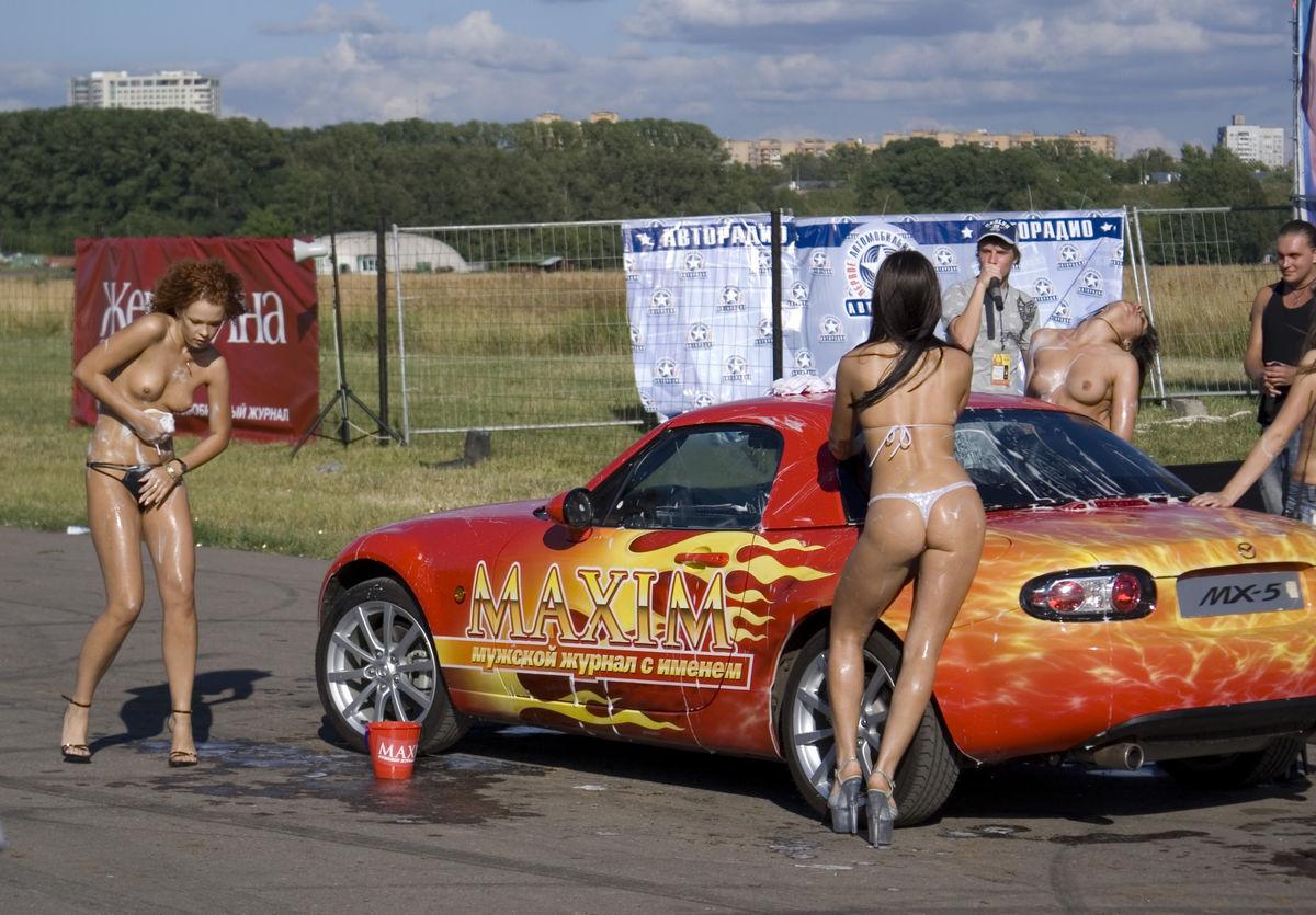 Naked busty car dealer varvara shows car to customer russian sexy girls