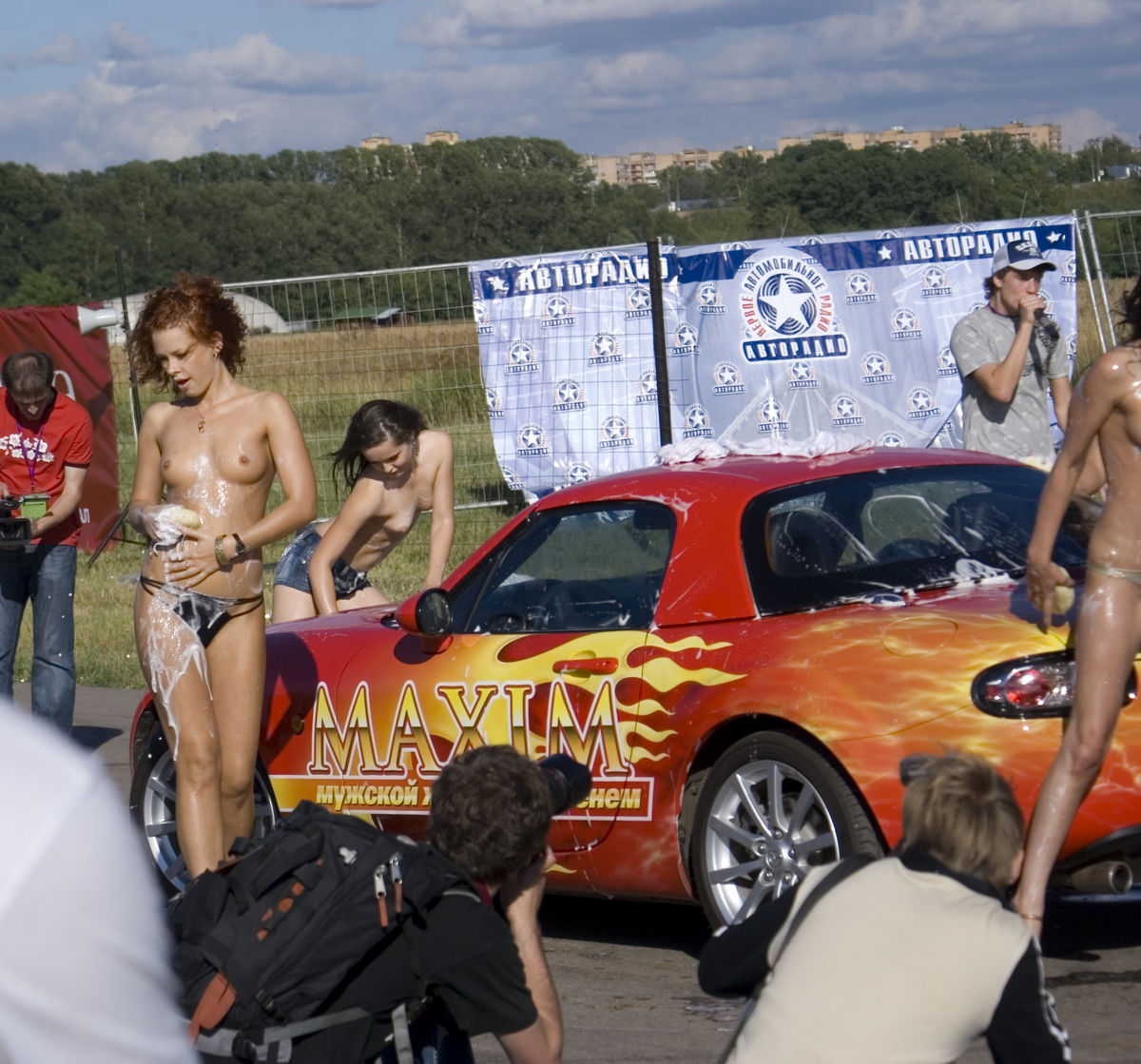 Nude car show necessary phrase