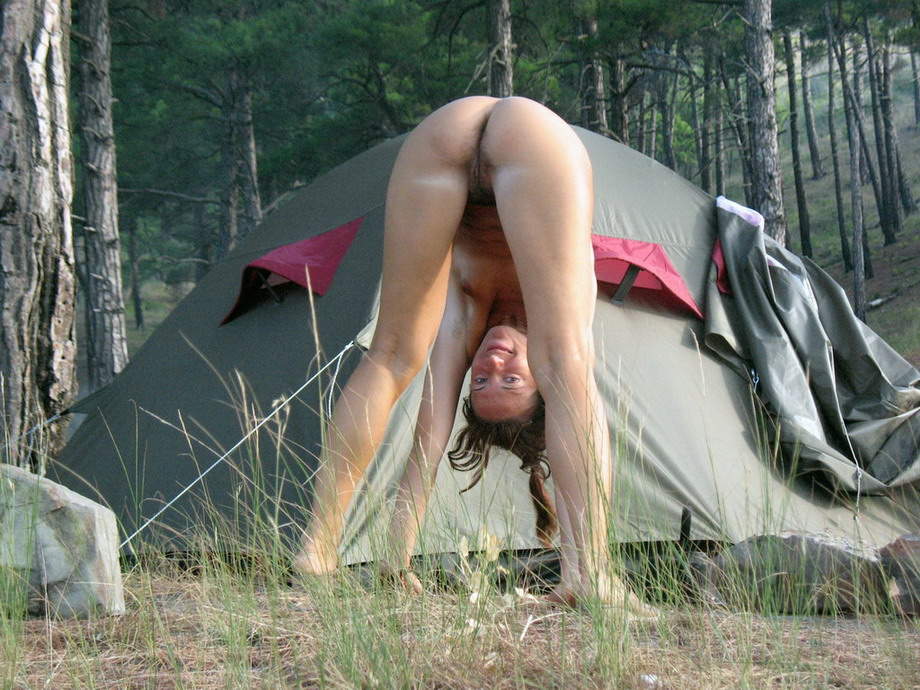 Girl naked at camp