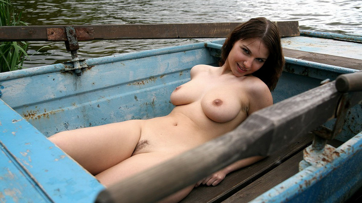 Excellent Big tits sex on boat
