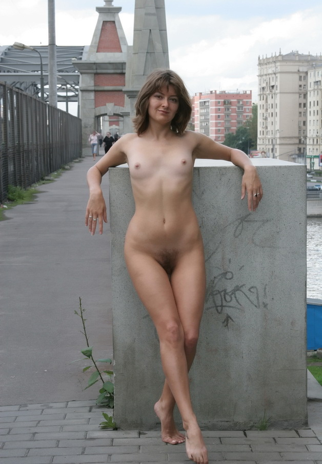 Russian Mature Wife Posing Naked At Public  Russian Sexy -1152