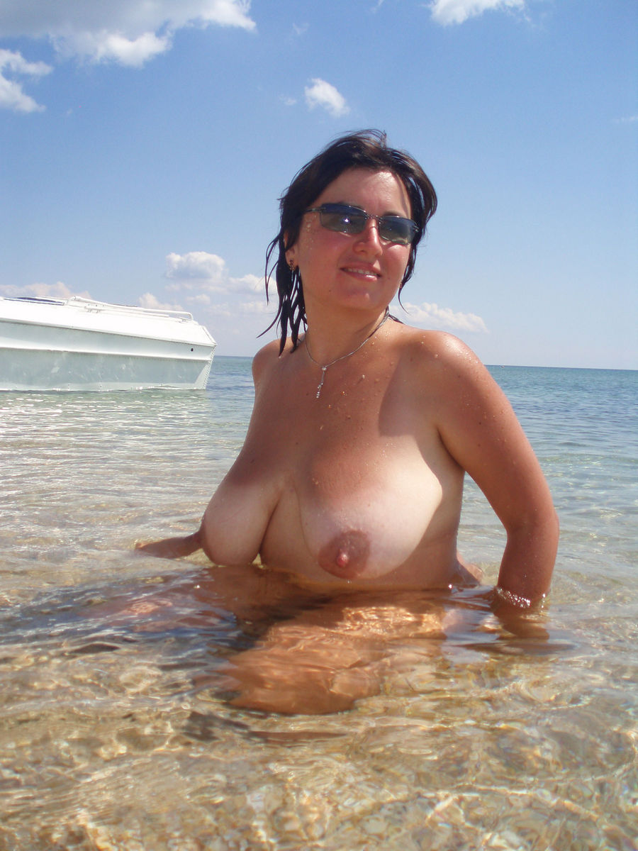 Mature topless beach photo confirm. was