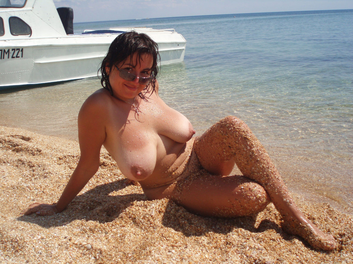 Sexy naked older wife on beach love Fantasy