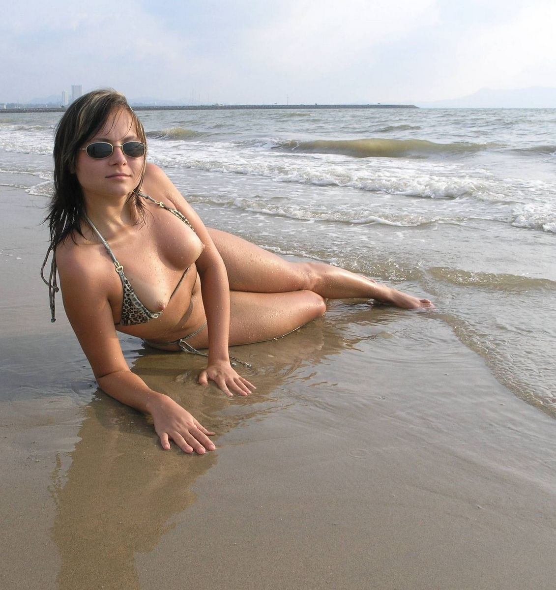 Sexy boobs at the beach