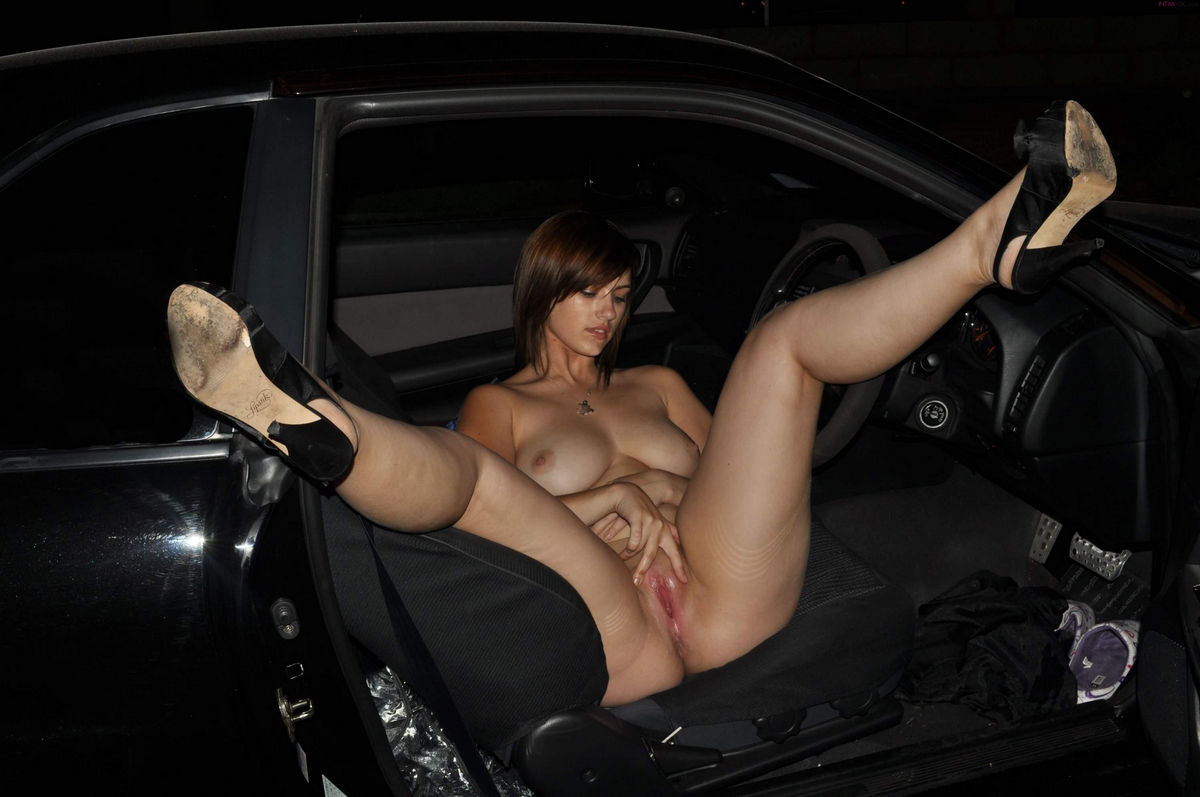 Teen Masturbates In Car