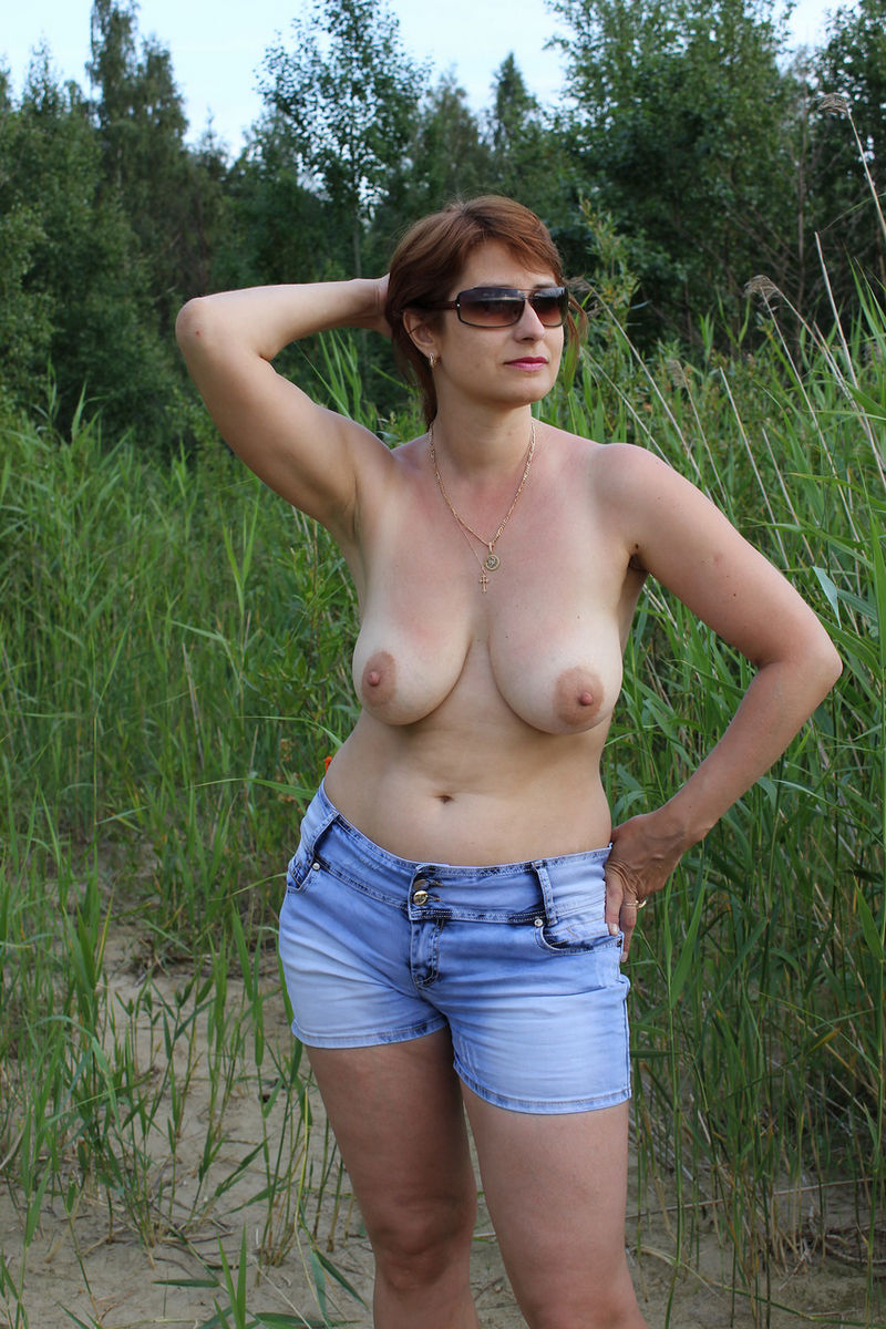 For boobs russian mature there
