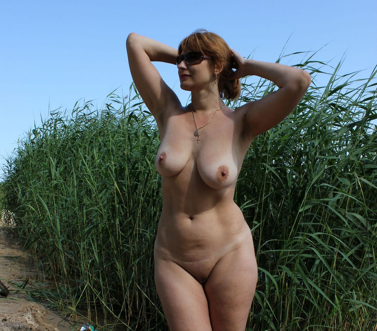 Mature russian wife outdoors