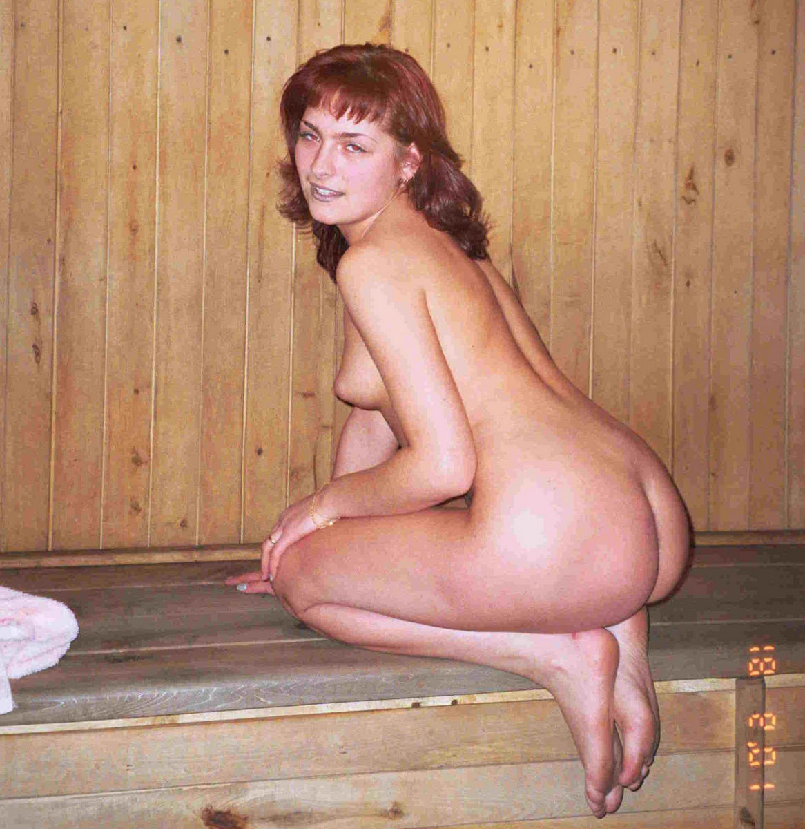 Nude Wife In Sauna