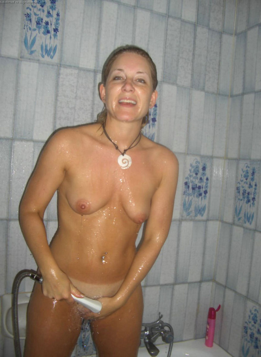 taking Nude amateur shower wives