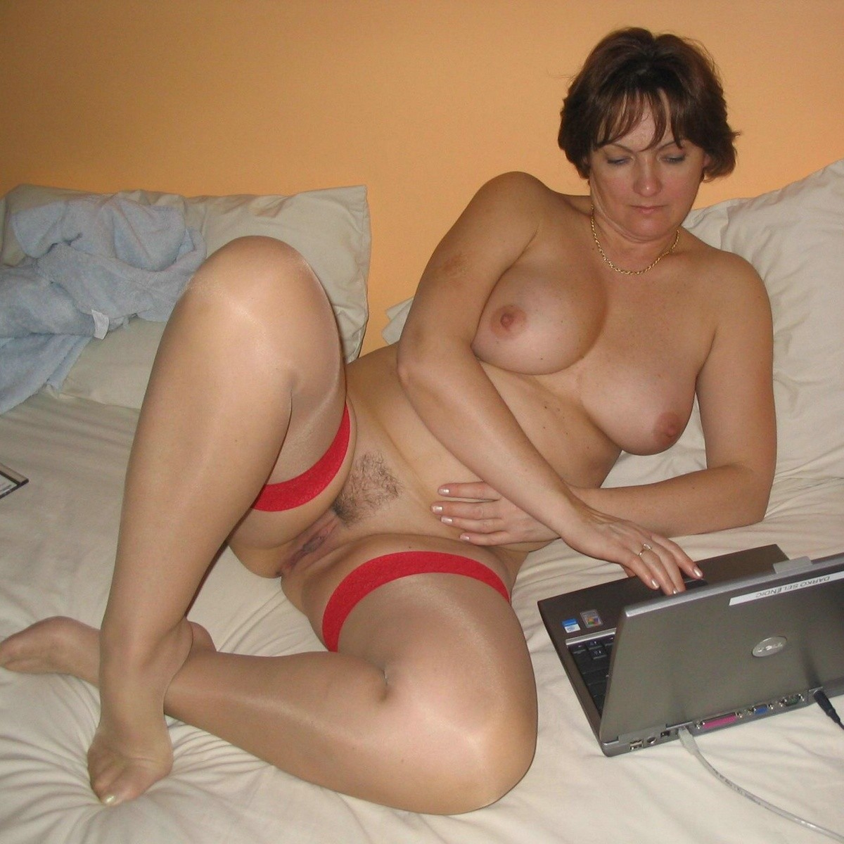Busty mom and son having sex