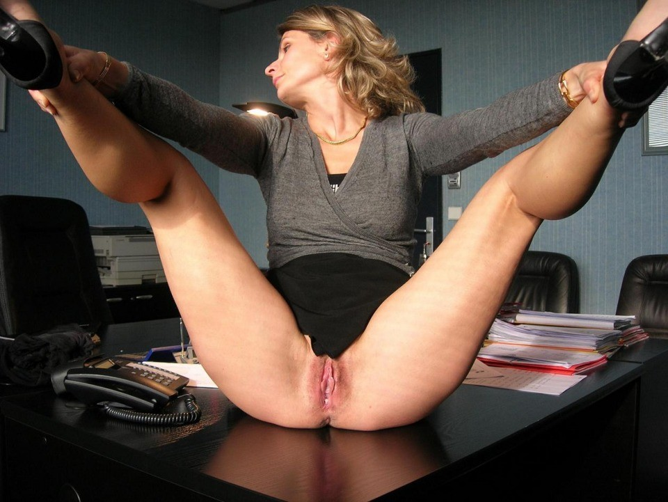 Office Girl Naked Spread
