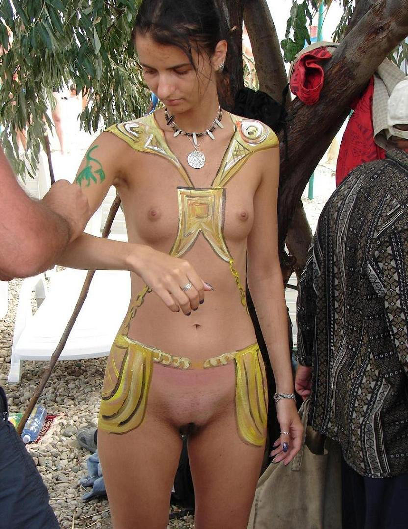 Nude beach body painting confirm