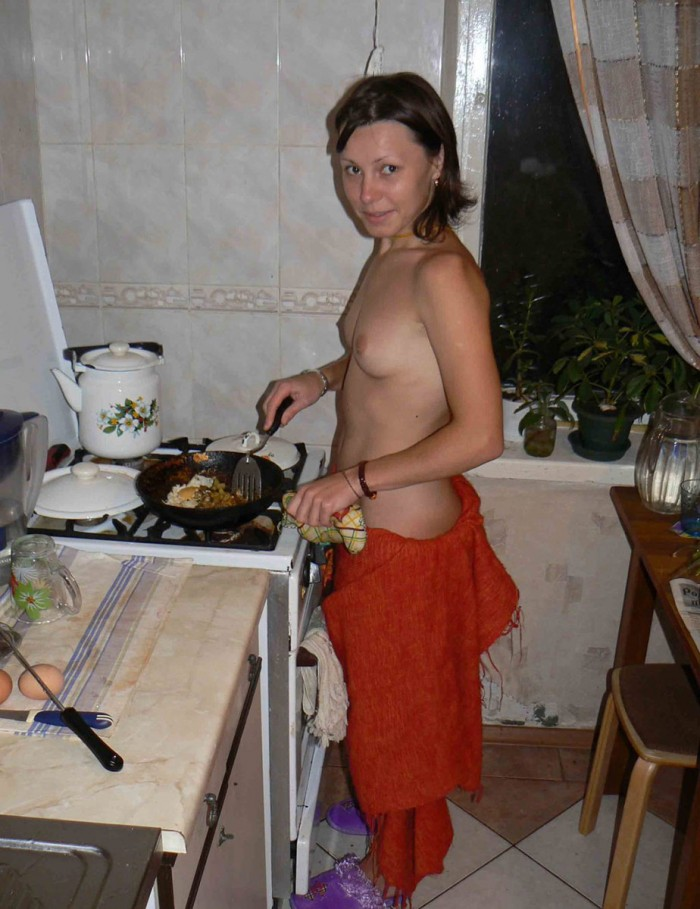 Remarkable, rather Naked mexican girl in the kitchen agree