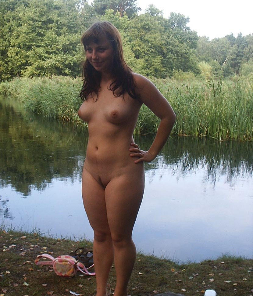 Girls Bathing Naked Outdoors