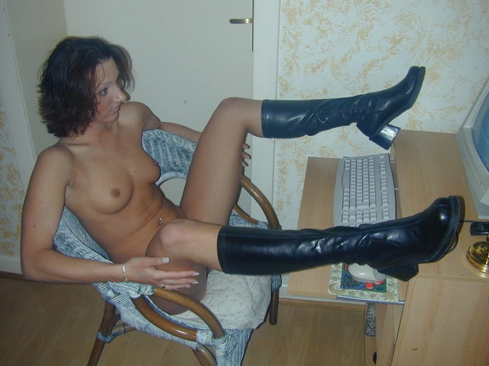 Nasty russian bitch is showing their puffy boobs via video chat.jpg