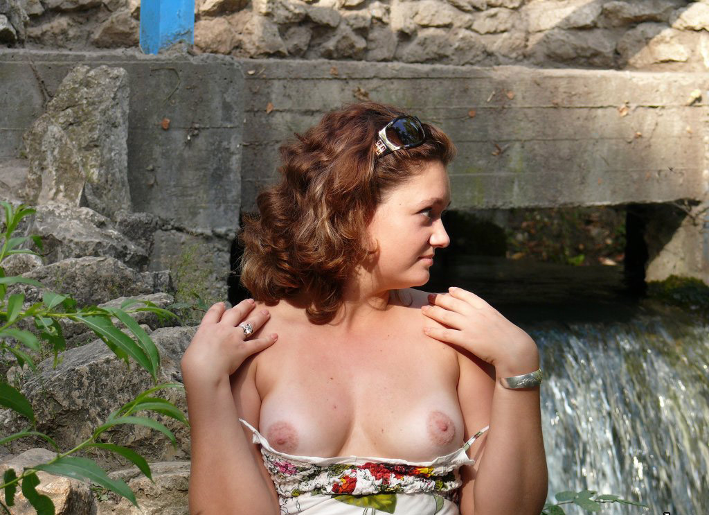 Wife public boobs